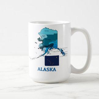 Flag and Map of Alaska Coffee Mug