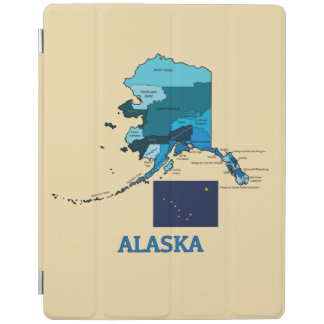 Flag and Map of Alaska iPad Smart Cover