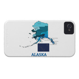 Flag and Map of Alaska iPhone 4 Cover