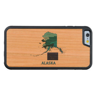 Flag and Map of Alaska Carved® Cherry iPhone 6 Bumper