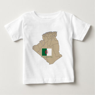 Flag and Map of Algeria Baby T-Shirt