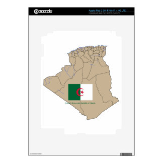 Flag and Map of Algeria Decal For iPad 3