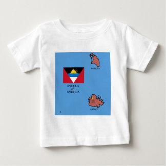 Flag and Map of Antigua and Barbuda Baby T-Shirt