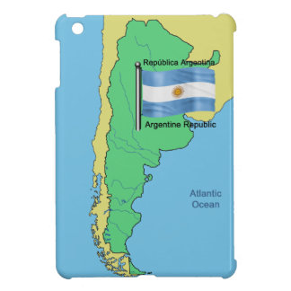 Flag and Map of Argentina Case For The iPad Mini