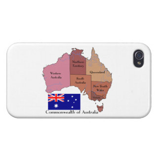 Flag and Map of Australia Case For iPhone 4
