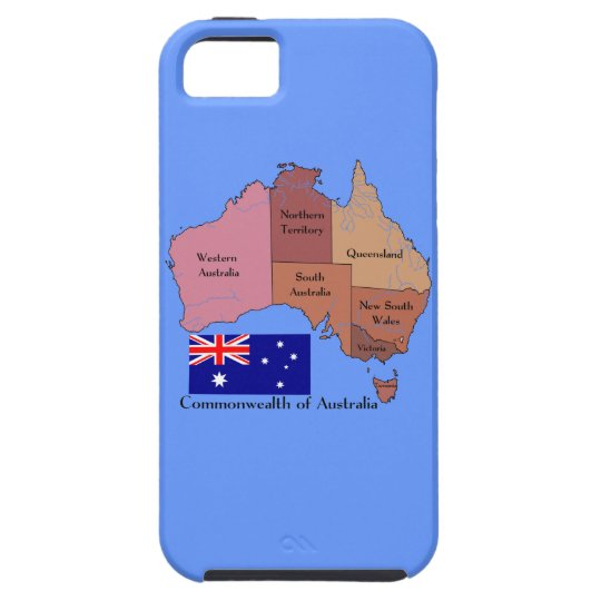 Flag and Map of Australia iPhone SE/5/5s Case