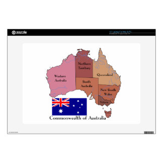 Flag and Map of Australia Laptop Decal