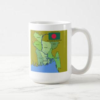 Flag and Map of Bangladesh Coffee Mug