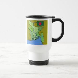 Flag and Map of Bangladesh Travel Mug