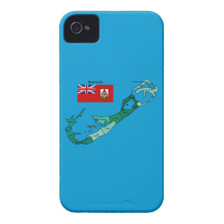 Flag and Map of Bermuda iPhone 4 Case