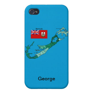 Flag and Map of Bermuda iPhone 4 Cover