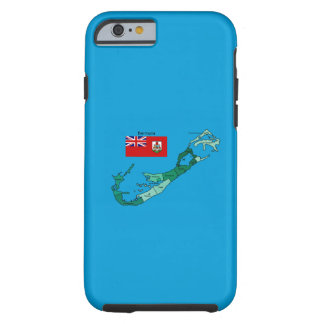 Flag and Map of Bermuda iPhone 6 Case