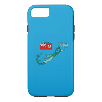 Flag and Map of Bermuda iPhone 7 Case