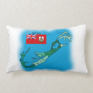 Flag and Map of Bermuda Pillow