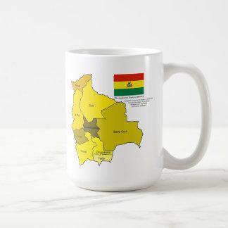 Flag and Map of Bolivia Coffee Mug