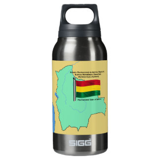 Flag and Map of Bolivia Insulated Water Bottle
