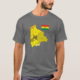Flag and Map of Bolivia T-Shirt