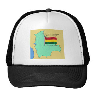 Flag and Map of Bolivia Trucker Hat