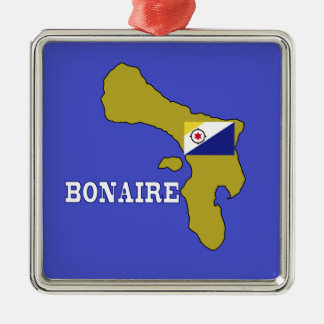Flag and Map of Bonaire Metal Ornament