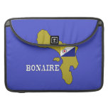 Flag and Map of Bonaire Sleeves For MacBook Pro