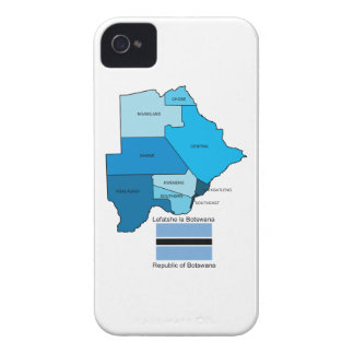 Flag and Map of Botswana iPhone 4 Case-Mate Case