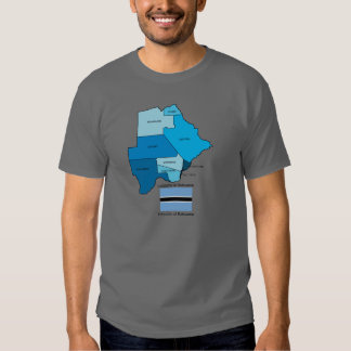 Flag and Map of Botswana Tee Shirt