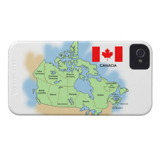 Flag and Map of Canada iPhone 4 Case