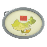 Flag and Map of China Belt Buckles