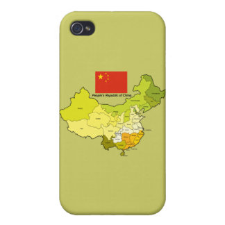 Flag and Map of China Case For iPhone 4