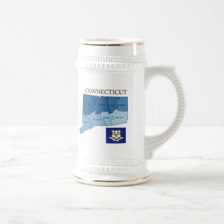 Flag and Map of Connecticut Coffee Mug