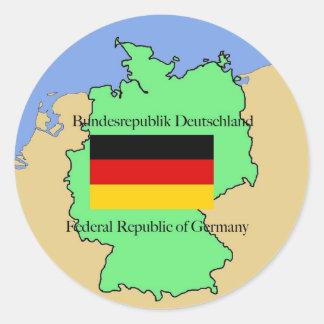 Flag and Map of Czech Republic Case-Mate Case Classic Round Sticker