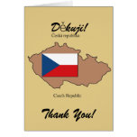Flag and Map of Czech Republic Thank You Card