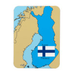 Flag and Map of Finland Flexible Magnet