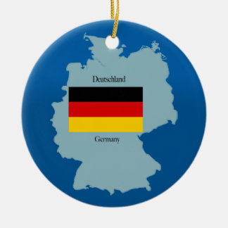Flag and Map of Germany Christmas Ornament