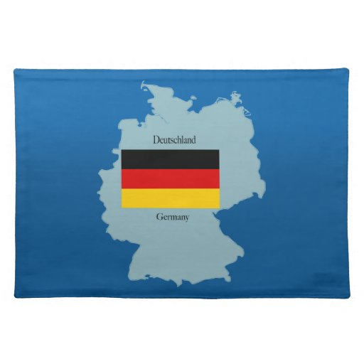 Flag and Map of Germany Place Mat