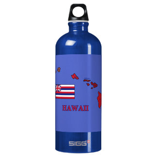 Flag and Map of Hawaii SIGG Traveler 1.0L Water Bottle