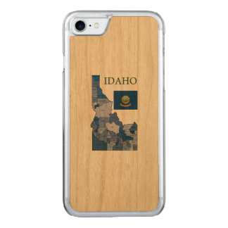 Flag and Map of Idaho Carved iPhone 8/7 Case