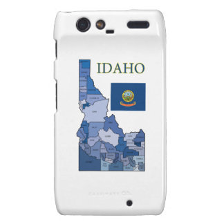 Flag and Map of Idaho Droid RAZR Case