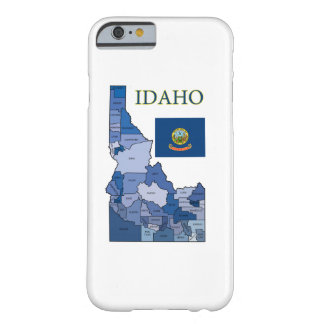 Flag and Map of Idaho Barely There iPhone 6 Case