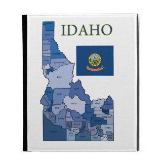 Flag and Map of Idaho iPad Folio Case