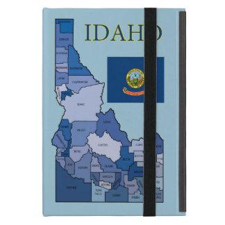 Flag and Map of Idaho iPad Mini Case