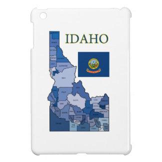 Flag and Map of Idaho iPad Mini Cases