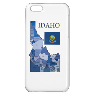 Flag and Map of Idaho iPhone 5C Case