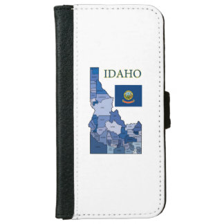 Flag and Map of Idaho iPhone 6 Wallet Case
