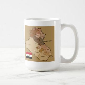 Flag and Map of Iraq Mug