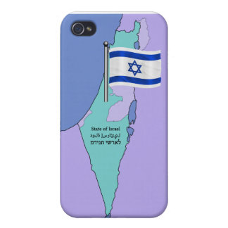 Flag and Map of Israel iPhone 4 Case