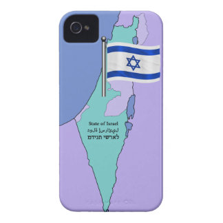 Flag and Map of Israel iPhone 4 Cover