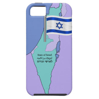 Flag and Map of Israel iPhone SE/5/5s Case