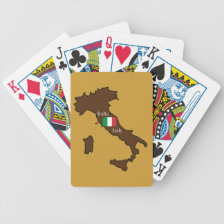 Flag and Map of Italy Bicycle Poker Deck