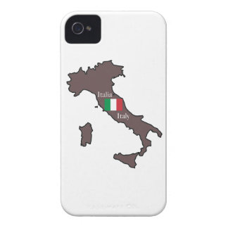 Flag and Map of Italy iPhone 4 Case